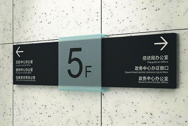 办公楼贴墙指示牌标识设计